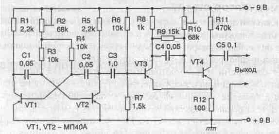 Генератор шума на транзисторах